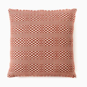Optical Red Cushion from Mariantonia Urru