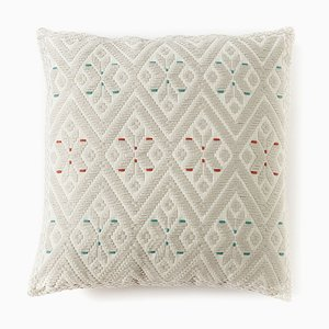 Jaja White Cushion from Mariantonia Urru