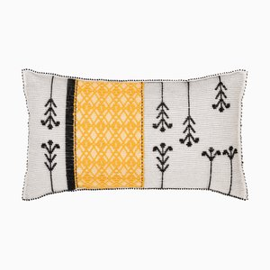 Kara Fiume Yellow Cushion by Carolina Melis for Mariantonia Urru