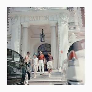 Staying at the Carlton Oversize C Print Framed in Black by Slim Aarons