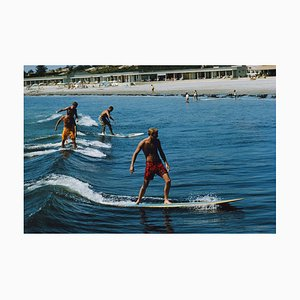 Surfing Brothers Oversize C Print Framed in White by Slim Aarons