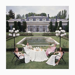 The Romanones Oversize C Print Framed in White by Slim Aarons
