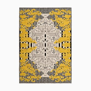 Yellow Flower Garden Rug by Caterina Quartana for Mariantonia Urru