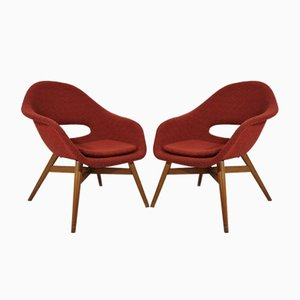 Shell Armchairs by Miroslav Navratil, 1960s, Set of 2