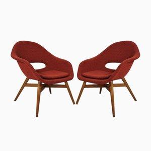 Shell Sessel von Miroslav Navratil, 1960er, 2er Set