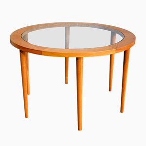 Danish 6-Legged Round Dining Table, 1970s