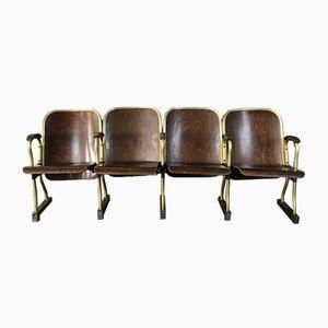 Mid-Century 4-Seat Cinema Chairs, 1950s