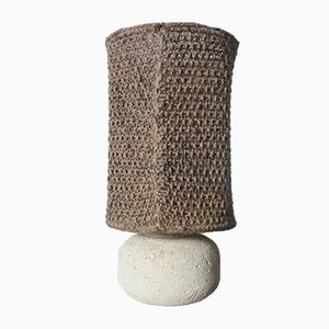 Vintage Stone Table Lamp in the style of Albert Tormos, 1970s