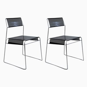 Chromed and Perforated Metal Chairs from Magis, 1980s, Set of 2
