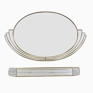 Large Belgian Mirror with Console from Deknudt, 1970s, Set of 2