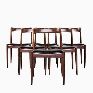 Chaises de Salon Mid-Century par Oswald Vermaercke pour V-form, 1960s, Set de 6