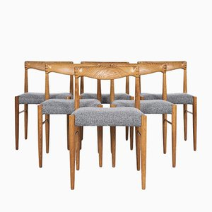 Mid-Century Danish Dining Chairs in Oak by HW Klein for Bramin, 1960s, Set of 6