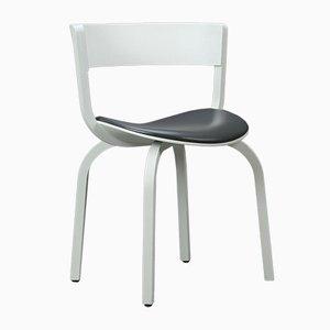Modell 404 SPF Stuhl aus Eiche Bugholz & weißem Leder von Thonet, 2014
