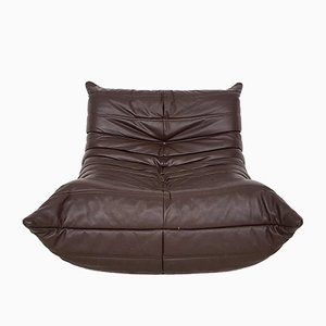 French Dark Brown Togo in Leather by Michel Ducaroy for Ligne Roset, 1970s