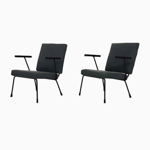 Dutch Model 1407 Lounge Chairs by Wim Rietveld & A R Cordemeyer for Gispen, 1960s, Set of 2