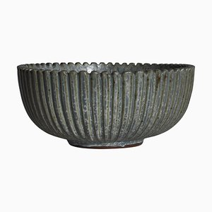 Large Art Deco Stoneware Bowl by Arne Bang, 1930s