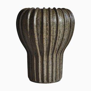 Art Deco Stoneware Vase by Arne Bang, 1930s