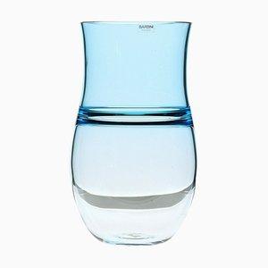 Aquamarine Incalmo Vase in Murano Glass by Alfredo Barbini, 1980s