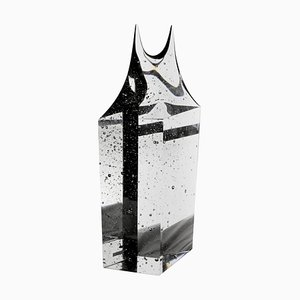 Large Czech Crystal Monolith with Twin Peaks Organic Finish by Jan Exnar, 1998