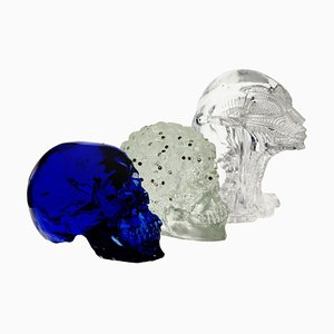 Memento Mori Trittico Evolution Murano Glass Lost Wax Cast Set from Giuman, 2010, Set of 3