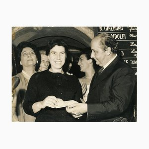 Natalia Ginzburg Recives the XVII Strega Prize - Vintage photograph - 1963 1963