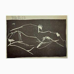 Frau - Original Holzschnitt - 1957 1957
