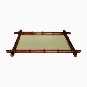 Large Faux Bamboo Mirror, 1920s
