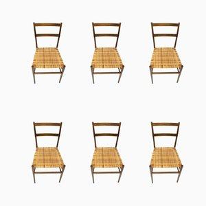 646 Leggera Stühle von Gio Ponti für Cassina, 1957, 6er Set.