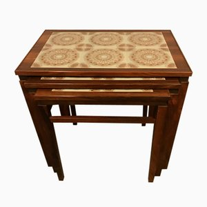 Rosewood Nesting Tables, 1960s, Set of 3