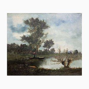 Landschaft Öl auf Leinwand, 1850er