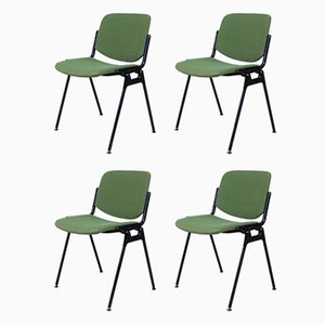 Green 106 Rainbow Desk Chairs from Castelli / Anonima Castelli, 1987, Set of 4