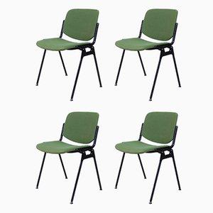Grüne 106 Rainbow Schreibtischstühle von Castelli / Anonima Castelli, 1987, 4er Set