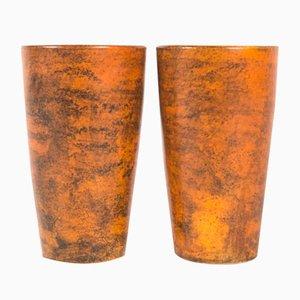 Glasierte Keramik Becher von Jacques Blin, 1960er, 2er Set