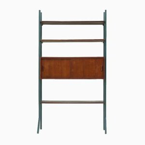 Teak Freestanding Bookcase Wall Unit, 1960s
