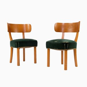 Birka Vintage Side Chairs by Axel Einar Hjorth for Nordiska Kompaniet, Set of 2