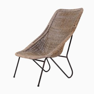 Mid-Century Swedish Rattan Lounge Chair