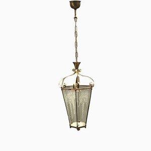 Lanterna antica in vetro inciso, anni '40