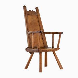 18th-Century Belgian Primitive Ash Chair