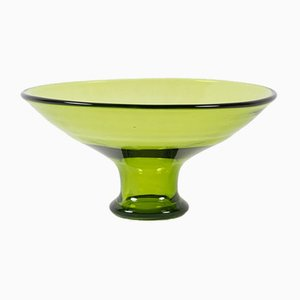 Vintage Danish May Green Glass Bowl by Per Lütken for Holmegaard, 1950s