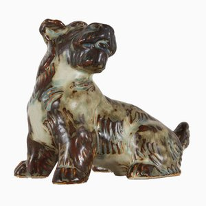 Vintage Danish Terrier Figurine by Knud Kyhn for Royal Copenhagen 1955