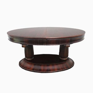 Art Deco Extendable Rosewood Dining Table, 1920s