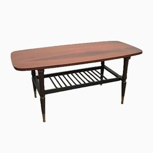 Coffee Table In Teak With Magazine Rack, Italy, 1950s