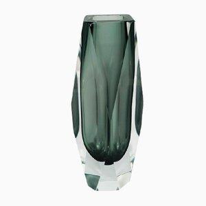 Graue Vase von Flavio Poli für Seguso, 1960er
