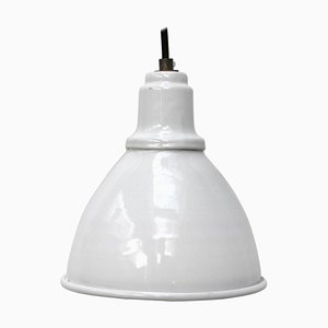 Vintage White Enamel Industrial Factory Pendant Light