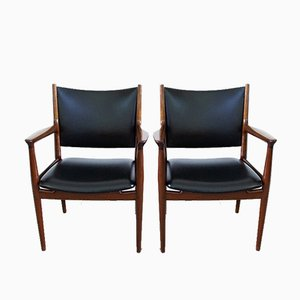 Danish Model JH513 Armchairs by Hans J. Wegner for Johannes Hansen, 1960s, Set of 4