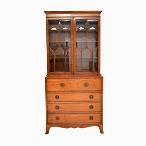 Inlaid Mahogany Secretaire Bookcase, 1930s