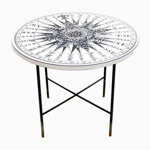 Vintage Coffee Table in the Style of Fornasetti, 1960s