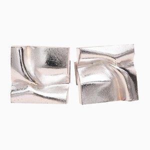 Gemelli Manchettes con gemme di Valetoidale di Bjorn Weckstrom per Lapponia, 1984, set di x