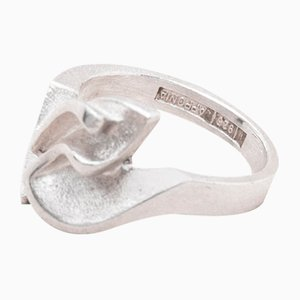 Memphis Model Silver Ring by Zoltan Popovits for Lapponia, 2000s