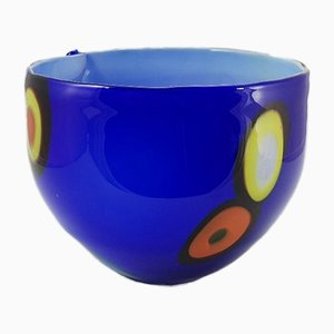 Vintage Pop Art Blown Glass Bowl Centerpiece